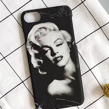 Monroe Marble Stone iPhone 7 7Plus & iPhone se 5s 6 6 Plus Case High Quality Cover +Gift Box-198