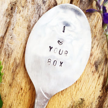 Censored Gifts, Hand Stamped Spoon, Dirty Gift, Naughty Gifts, I Love Your Box, Gag Gifts, Gag Gifts, Adult Gifts, Adult Christmas Gifts