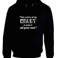 Shawn Mendes Quote Take A Piece Of My Heart Own Hoodie