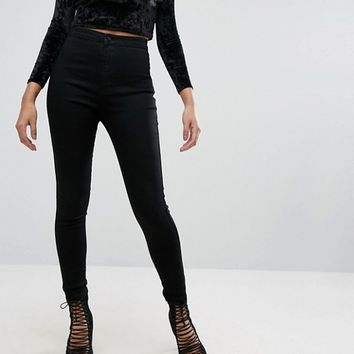 Missguided Vice High Waisted Super Stretch Skinny Jean at asos.com