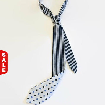 Sale 50% Two-sided skinny baby boy tie, skinny ties, designer ties, boys ties, baby boy ties