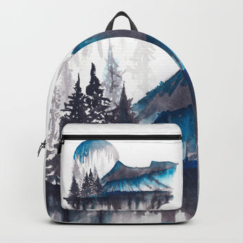 Abstract nature Backpacks by Marco Gonzalez