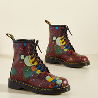 March Through Manhattan Leather Boot in Splatter | Mod Retro Vintage Boots | ModCloth.com