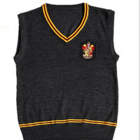 Hufflepuff/Ravenclaw/Slytherin/Gryffindor Sweater Vest Harry Potter Cosplay Costume Halloween Costumes Disfrace Carnaval