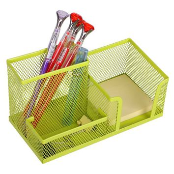 Homecube Space Saving Mesh Office Supplies Desk Organizers/Pen Holder/Cell Phone Holder/Cosmetic Holder 3 Sorter Sections