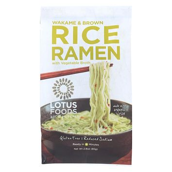 Lotus Foods Wakame And Brown Rice Ramen With Vegetable Soup - Case Of 10 - 2.8 Oz.