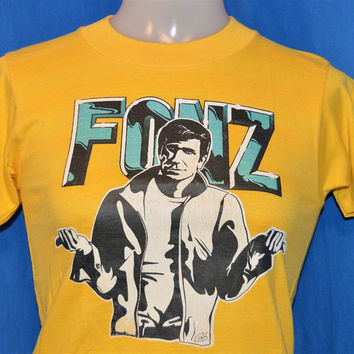 70s Happy Days The Fonz Iron On t-shirt Youth Large 14-16