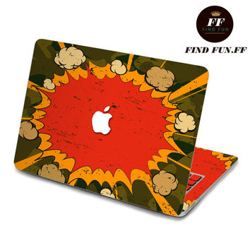 Back cover of decal Macbook Air Sticker Macbook Air Decal Macbook Pro Decal 爆炸-057