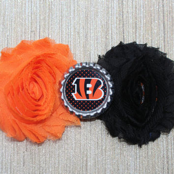 NFL Cincinnati Bengals inspired headband- perfect for football season! Bengals Baby Headband