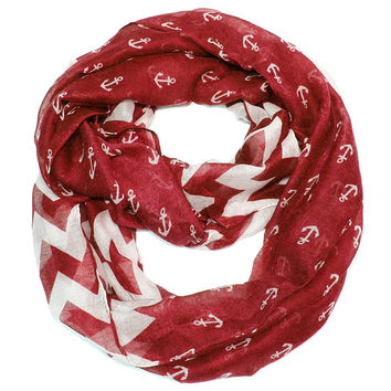 Anchor Chevron Infinity- Red