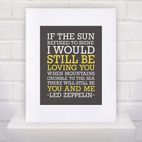 Led Zeppelin Lyrics - Thank You - 11x14 - poster print