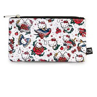 Hello Kitty Tattoo Print Face Pencil Case - Pencil Cases