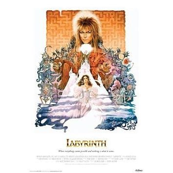 DAVID BOWIE - LABYRINTH MOVIE POSTER - Fantasy