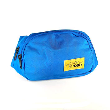 Neon Bright Blue Fanny Pack
