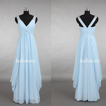 Light Blue Prom Dresses,Bridesmaid Dresses,Summer Dresses,Evening Dresses,Party Dresses,Maxi Dresses,Formal Dresses,Fancy Dresses,GK159