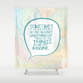 Imitation game.. sometimes the people, alan turing quote Shower Curtain by Studiomarshallarts