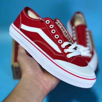 Vans Off The Wall Skool 2018 Fashion Canvas Skate Shoes Red