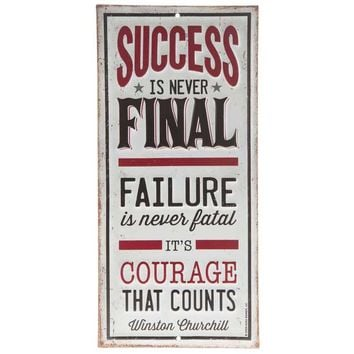 Success or Proud Embossed Tin Sign | Hobby Lobby | 1129865