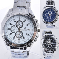 Fashion Watches Men Stainless Steel Belt Sport Business Quartz Watch Wristwatches SV000898 = 1713113220