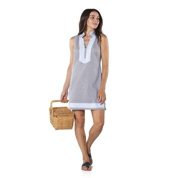 Stripe Shirting Sleeveless Tunic by Sail To Sable