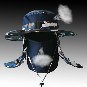 Promotion! Wide Large Brim Sun Block Quick Drying Fishing Hat Neck Protection Summer Sun Cap Mountain Climbing Hat With String