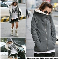 Thickening fleece lambs wool fleece jacket quality women's fur coat = 1929774916