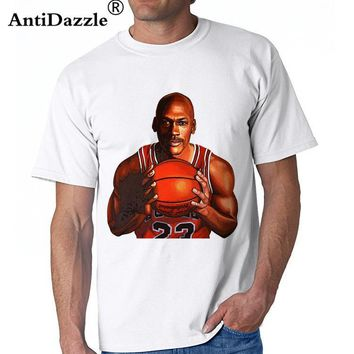 Antidazzle Summer Original New brand Michael Jordan 23 Digital Men's Short Sleeve T sh