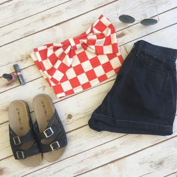 Betty Checkered Crop