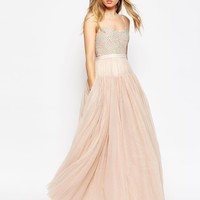 Needle & Thread Voluminous Tulle Embellished Maxi Dress