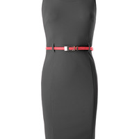 Womens Fitted Summer Midi Dress with Belt