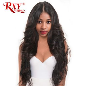 RXY Body Wave Pre Plucked Full Lace Human Hair Wigs For Women Brazilian Human Hair Full Lace Wigs With Baby Hair Black Non-Remy