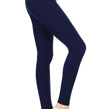 Tall and Curvy Navy Brushed Leggings