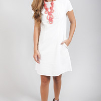 Dayton K: the annie dress - white seersucker
