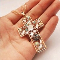 Crystal Cross Fashion Necklace | LilyFair Jewelry