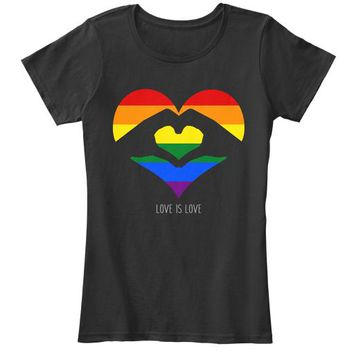 Love Is Love LGBT Rainbow Heart