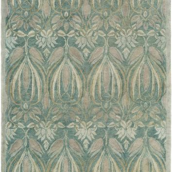 Surya Fitzgerald Arts and Crafts Blue FGD-1003 Area Rug