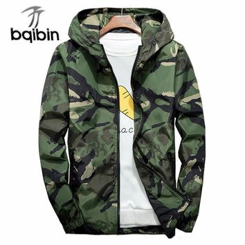 Trendy Camouflage Windbreaker Mens Bomber Jackets 2018 Casual Hooded Spring Autumn Men'S Jacket Coat Plus Size 6XL 7XL AT_94_13