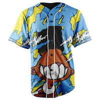 Gerald Sky Blue Button Up Baseball Jersey