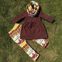 In Stock-Brown Aztec 3 piece Set