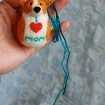 Corgi Mom - Rear View Mirror Corgi Nubbin