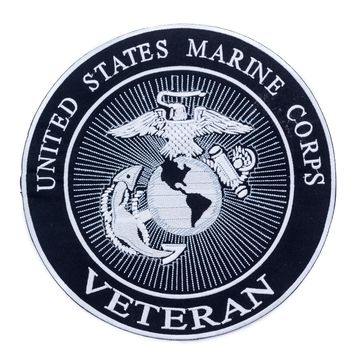 United States Marine Corps veteran Iron on Center Patch for Biker Vest CP172