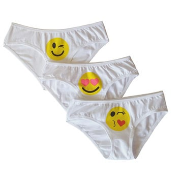So Nikki Girl's Briefs Pack 3pcs - Emoji