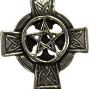 Celtic Cross Pentagram Pendant
