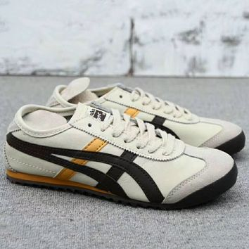 ASICS GEL LYTE Onitsuka Tiger Women Men Running Sport Casual Shoes Sneakers Beige+Black G-A0-HXYDXPF