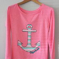 Long Sleeve- Chevron Zigzag Anchor