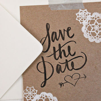 Chipboard Calligraphy Save the Date Kit Rubber Stamps NEW PRICE