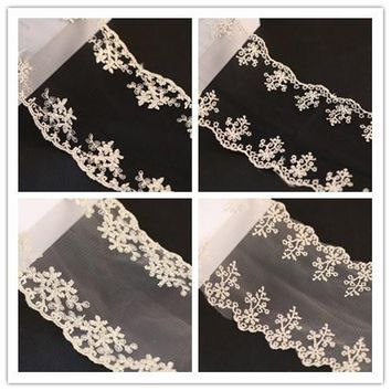 Competitive Wedding Lace Ribbon Embroidered Lace Trim Decoration  (10 yards/lot