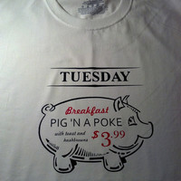 "Supernatural Inspired T-Shirt  ""Pig N A Poke"" Available in Youth  Adult Sizes -Priority Mail Shipping Option"