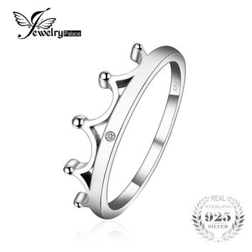 JewelryPalace Vintage Cubic Zirconia Crown Ring For Women 925 Sterling Silver  Fine Jewelry Wedding ring birthday present