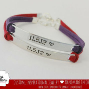 Custom Couples Bracelet, His Always Hers Forever, Hand Stamped His and Hers Bracelet, Couples Jewelry, Anniversary Jewelry